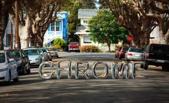 19-Chrome 3D Text