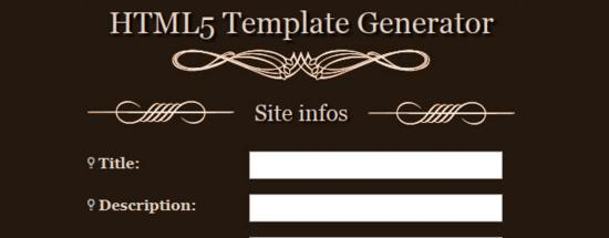 HTML5 Template Generator