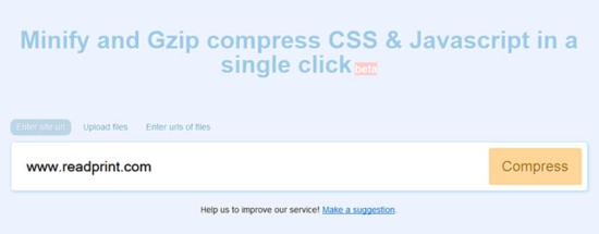 Minify and GZip Compress JavaScript & CSS