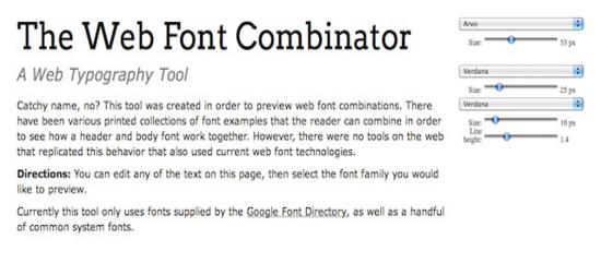The Web Font Combinator