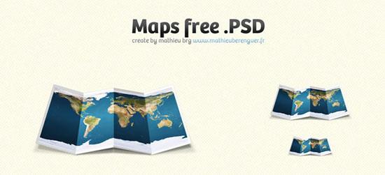Folded Maps</a>(.psd)