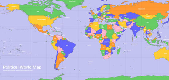 Vectorial World Map (.ai format)