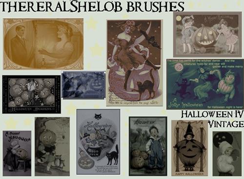 Vintage Halloween Brushes