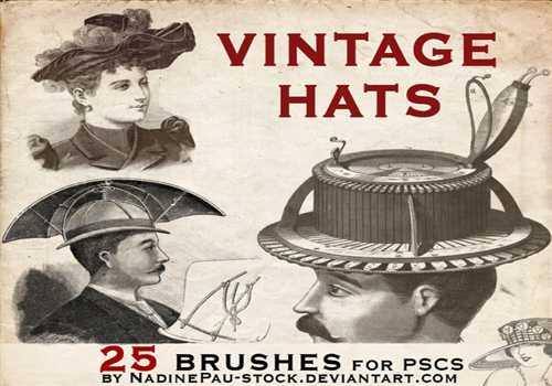 Vintage hats – 25 bruses