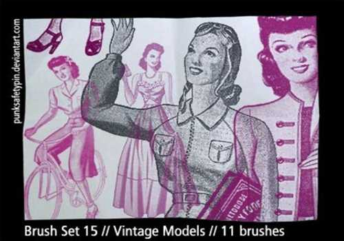 Brush Set 15 – Vintage Models