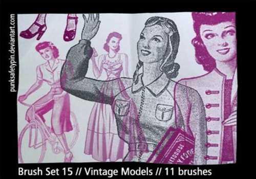 Brush Set 15 – Vintage Models