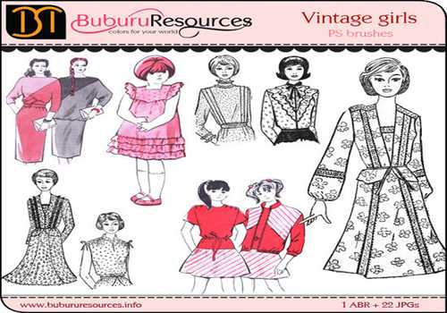 Vintage Girls – 22 Free Brushes