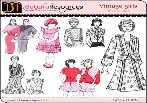 Vintage Girls – 22 Free Brushes