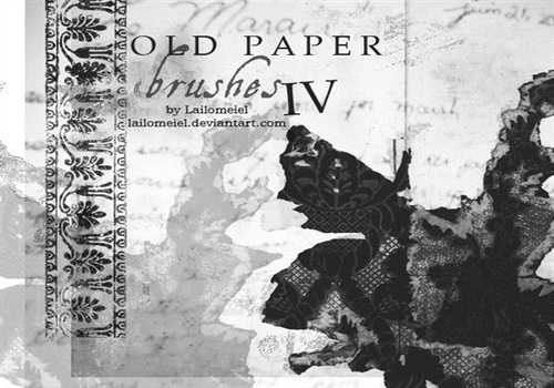 Old Paper Brushes IV