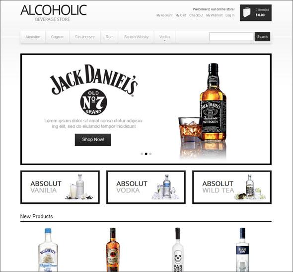 beverage store responsive magento design