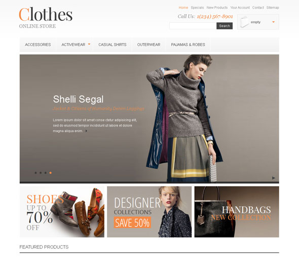 Clothes store. Responsive Prestashop theme