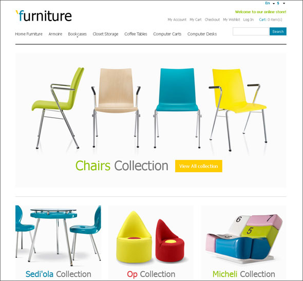 furniture store responsive magento design