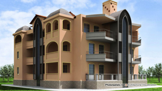 Exterior architectural visualization