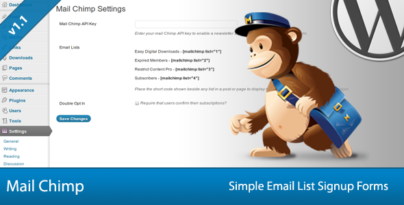 4-Simple Mail Chimp Signup Forms