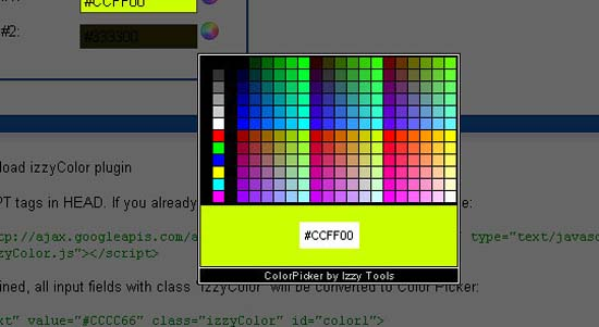 Izzy Color Picker