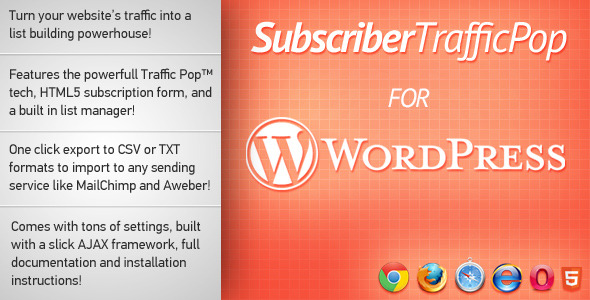 7-Subscriber Traffic Pop for WordPress