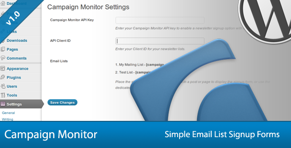 8-Simple Campaign Monitor Signup Forms