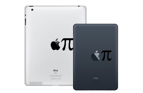 Apple Pi iPad Decal