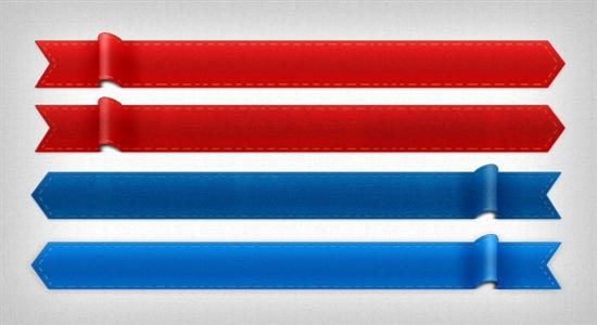 Free Ribbons PSD Files