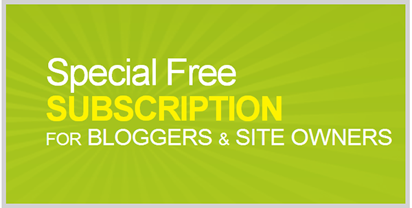 Special free subscription for bloggers and site owners