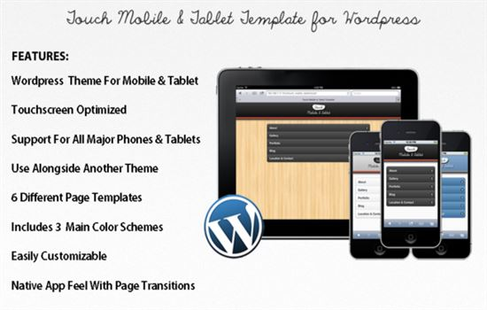 Touch Mobile & Tablet WP Theme