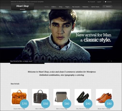 WordPresseCommerceThemes 13 40 Adet WordPress E Ticaret Teması