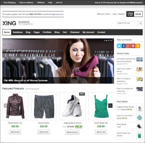 WordPresseCommerceThemes 14 40 Adet WordPress E Ticaret Teması