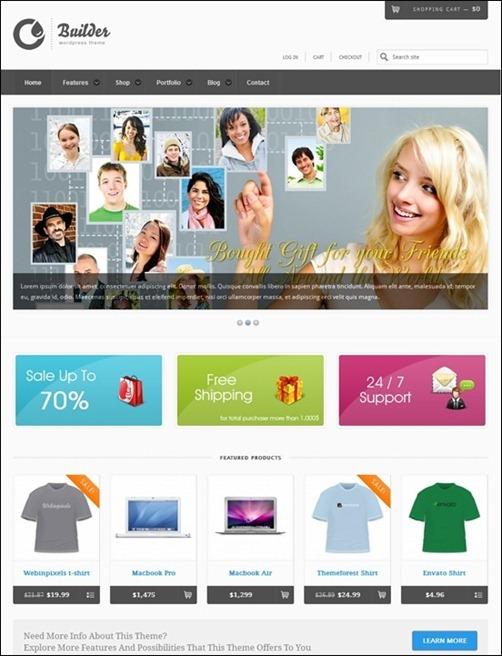 WordPresseCommerceThemes 18 40 Adet WordPress E Ticaret Teması