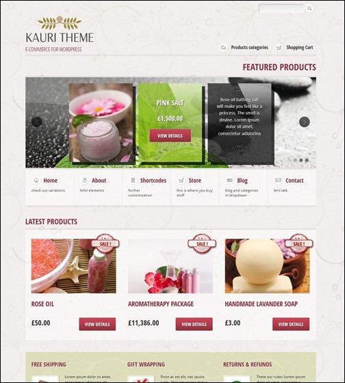 WordPresseCommerceThemes 20 40 Adet WordPress E Ticaret Teması