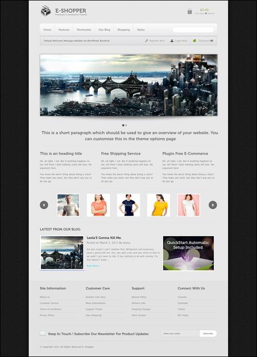 WordPresseCommerceThemes 40 40 Adet WordPress E Ticaret Teması
