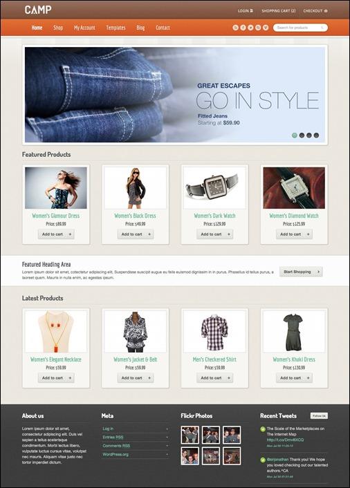 WordPresseCommerceThemes 5 40 Adet WordPress E Ticaret Teması