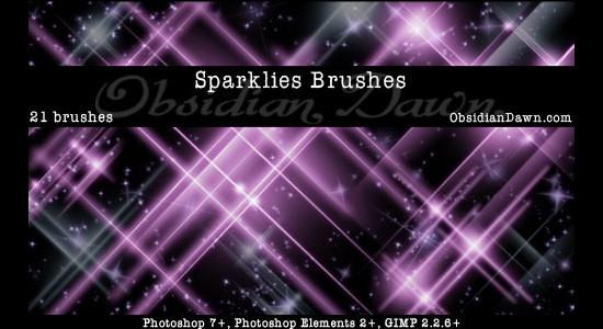 Sparklies Photoshop Brushes