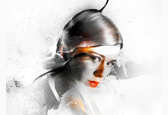 Freestyle Human Portrait Manipulation in Photoshop with Brush Painting and Layer Masking