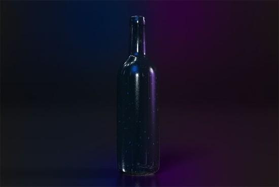 Create a 3D Wine Advertisement