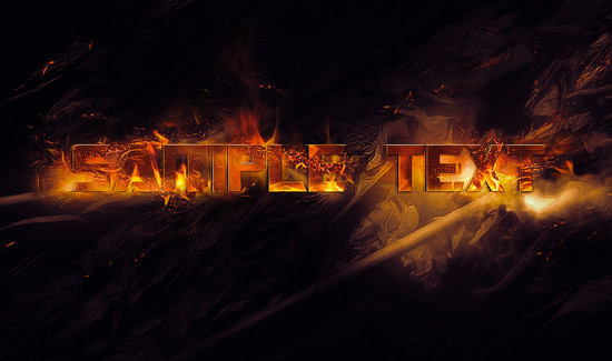 Create Burning Typography with Sparkles Effect in Photoshop