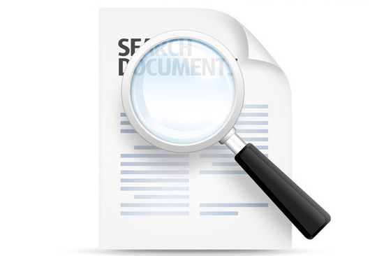 Search documents icon (PSD)