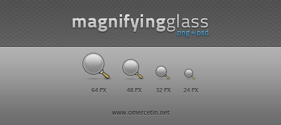 Magnifying Glass Icons + PSD