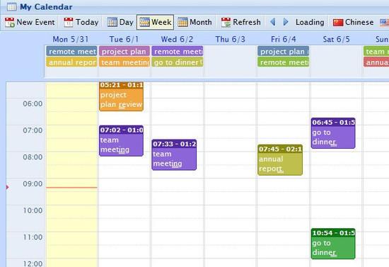JQuery Event Calendar Plugin