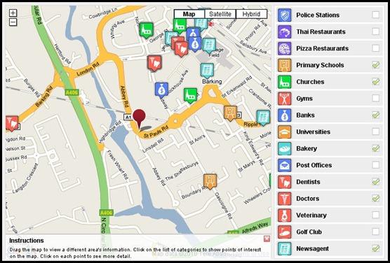 Point Of Interest (POI) Auto Map