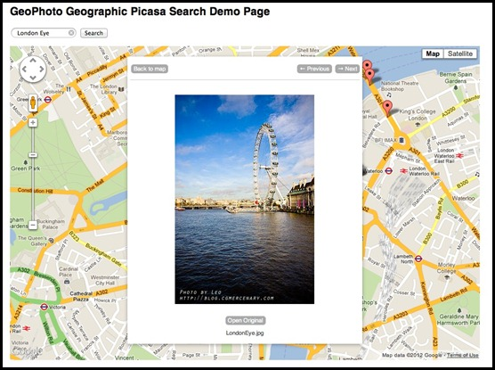 Google Maps Photo Search