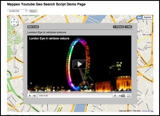 Google Maps Video Search