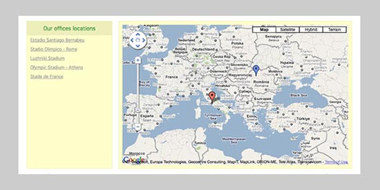 Build a POI map using jQuery & Google Maps v3