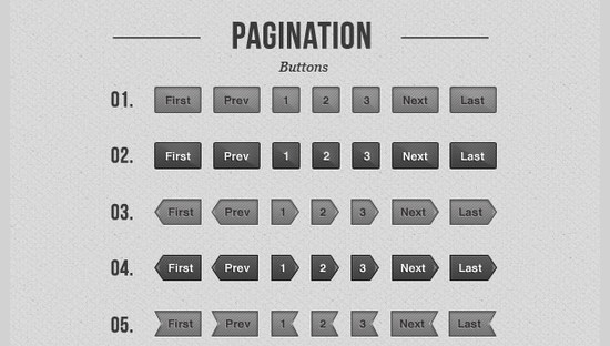 Simple page navigation buttons – Freebie