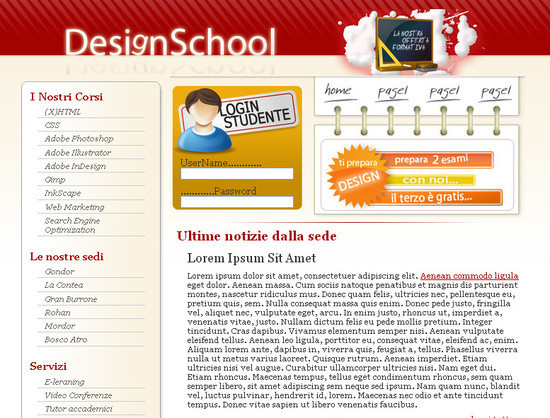DesignSchool Coded, Free CSS Template With PSD to HTML Tutorial