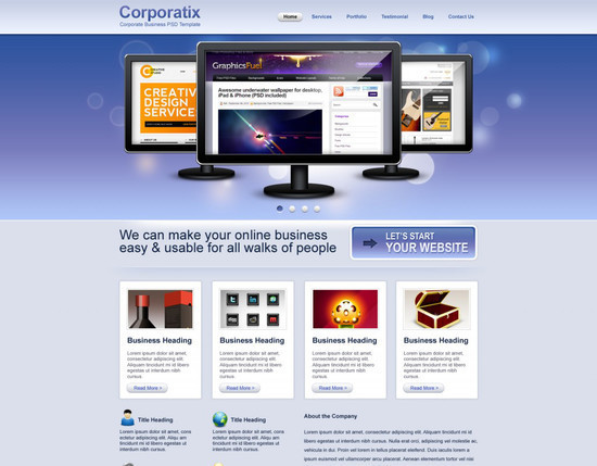 Convert Business PSD template to HTML/CSS tutorial