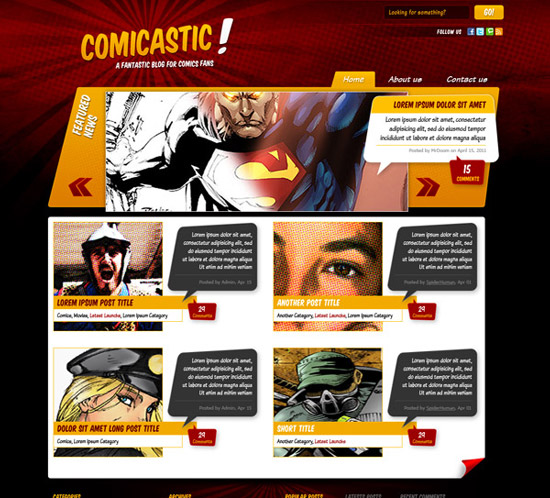 Create a Comic Book Themed Design, Photoshop to HTML+CSS