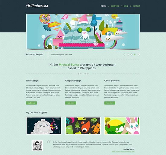 Learn How To Convert Artthatworks From PSD To HTML