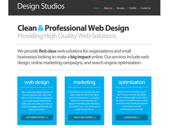 PSD/HTML Conversion: Code a Clean Business Website Design