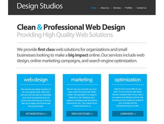 PSD/HTML Conversion: Code a Clean Business Website Design