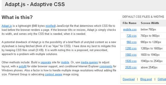 Adaptive CSS